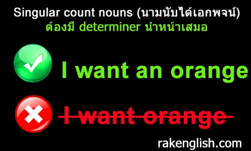 Singular count nouns